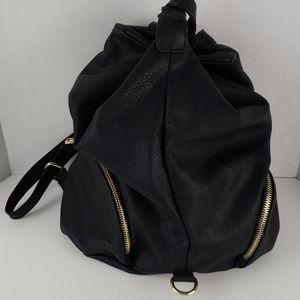 Crown Vintage Backpack Bag, Black